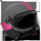 Kask Motocyklowy MOMO FGTR FLUO Szary / Fuxia