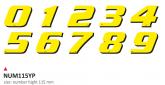 PRINT zestaw 10 naklejek (cyfry) w kolorze żółym