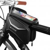 CIGNA Torba rowerowa na ramę z uchwytem na telefon (srebrne logo)