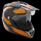 Kask motocyklowy ROCC 771 czarno-pomarańczowy