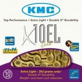 Łańcuch rowerowy KMC X10el 114 ogniw 10 biegów złoty