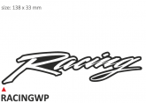 PRINT zestaw 10 naklejek Racing białe