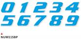 PRINT zestaw 10 naklejek (cyfry) w kolorze niebiekskim