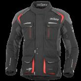 Kurtka motocyklowa BUSE Trento czarno-czerwona