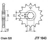 Zębatka napędowa przednia JTF1043.14 - 14 zębów