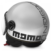 Kask Motocyklowy MOMO FGTR EVO Biały Kwarc Połysk / Czarmy