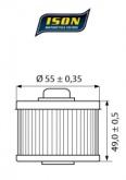 Filtr Oleju ISON 145 (HF145)