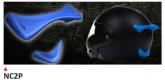 PRINT helmet support spoiler niebieskie