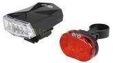 Lampki rowerowe komplet p+t Just One VISION 1.0 SET