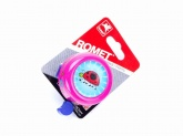 Dzwonek rowerowy ROMET alu różowy biedronka