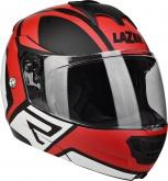 Kask motocyklowy LAZER LUGANO Z-Generation czarny/czerwony/metal/biały/matowy XS