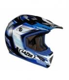 Kask motocyklowy LAZER MX7 Evo Space Runner biały/niebieski