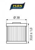 Filtr Oleju ISON 116 (HF116)