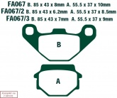 Klocki hamulcowe EBC SFA067HH skuterowe wzmacniane (kpl. na 1 tarcze)