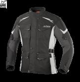 Kurtka motocyklowa BUSE Lago II czarno-jasno szara
