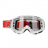 LAZER Gogle Track kol. White - white - red / Clear