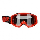 LAZER Gogle Race Black - Black - Red kol. Clear