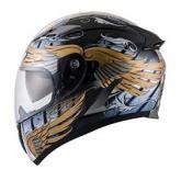 Kask motocyklowy KYT FALCON ANGEL biało-niebieski