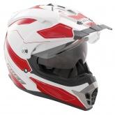 Kask motocyklowy ROCC 771 biało-czerwony