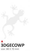 Naklejka 3D PRINT Geco biała