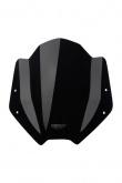 Uniwersalna szyba do motocykli bez owiewek MRA, forma SH, czarna