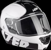 Kask motocyklowy LAZER LUGANO Raccoun biały/czarny/matowy