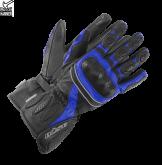 Rękawice motocyklowe damskie BUSE Pit Lane czarno-niebieskie