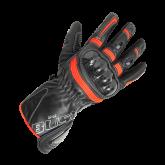 Rękawice motocyklowe damskie BUSE Misano czarno-biało-neonowe