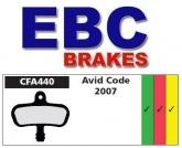 Klocki rowerowe EBC (organiczne wyczynowe) Avid Code CFA440R