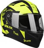 Kask Motocyklowy LAZER FH4 Jr Bad Boy kol. czarny/żółty fluo/matowy rozm. 2XS
