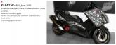 PRINT zestaw naklejek motocyklowych do tmax from 2012 to 2014 mimetic szara