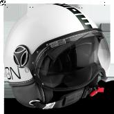 Kask Motocyklowy MOMO FGTR CLASSIC Biały Połsk / Czarny