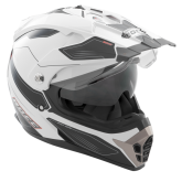Kask motocyklowy ROCC 771 biało-czarny