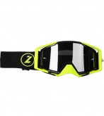 LAZER Gogle - Race Style Mirror Black - Yellow Fluo - Black (kol. Mirror Srebrny)