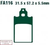 Klocki hamulcowe EBC SFA116 skuterowe (kpl. na 1 tarcze)