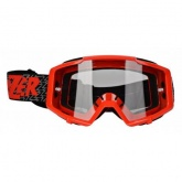 LAZER Gogle Track kol. Red - black - red / Clear
