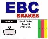 Klocki rowerowe EBC (organiczne wyczynowe) Avid Elixir/Code 2011-2012 CFA616R