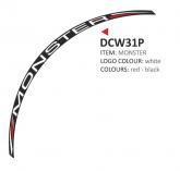 PRINT zestaw 8 naklejek na koła motocyklowe Ducati Monster białe