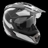 Kask motocyklowy ROCC 771 czarno-biały