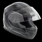 Kask motocyklowy dziecięcy ROCC 382 Jr. czarno-srebrny 3XS/50