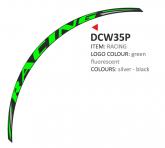 PRINT zestaw 8 naklejek na koła motocyklowe Racing zielone fluo