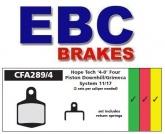 Klocki rowerowe EBC (organiczne wyczynowe) Hope 4 Piston (2 Pairs Per Caliper) CFA289/4R