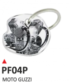 PRINT Dwustronny wypukły brelok na klucze  bicilindro motoguzzi