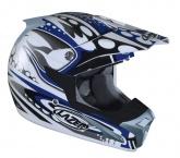 Kask motocyklowy LAZER SMX Bionic biały/niebieski