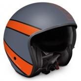 Kask Motocyklowy MOMO RAPTOR Grey Frost / Red Outline