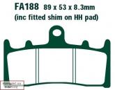 Klocki hamulcowe EBC EPFA188HH Extreme Pro (kpl. na 1 tarcze)