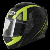 Kask motocyklowy ROCC 882 czarny mat/neonowy  XS