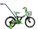 Rower Rock Kids 16 Trophy czarno-zielony