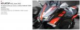 PRINT zestaw naklejek motocyklowych do Tmax from 2012 to 2014 czerwone wersja