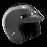 Kask motocyklowy ROCC Classic czarny metalik